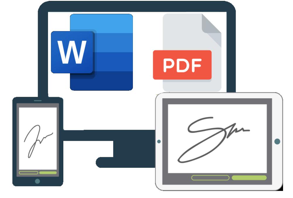 Crear y añadir una firma a un documento PDF o WORD